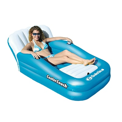 Swimline® Cooler Couch Oversized Inflatable Pool Lounger, Blue/White