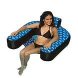 Swimline® Fabric Covered Suspend Inflatable Pool Chair, Blue/Black