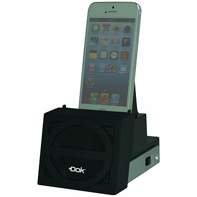 DOK™ Speaker Cradle With Rechargeable Battery, Black