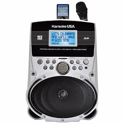 Karaoke USA SD516 Portable Karaoke MP3 Lyric Player With 3.2 Lyric Screen/SD Slot and 100 Songs