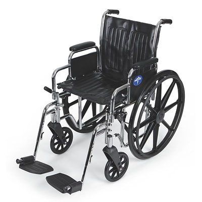 Medline Excel 2000 Extra-Wide Wheelchairs; Seat, Removable Desk Length Arm, Swing Away Leg