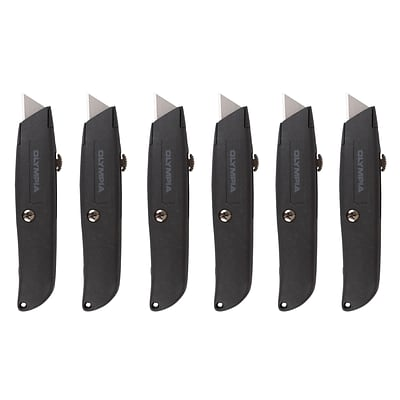 Olympia Tools Retractable Utility Knife Set, 6/Pack