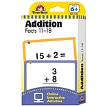 Evan-Moor® Flashcard  Addition Facts 11-18 1-5