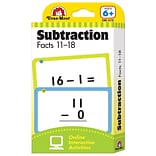 Evan-Moor® Flashcard  Subtraction Facts 11-18 1-5