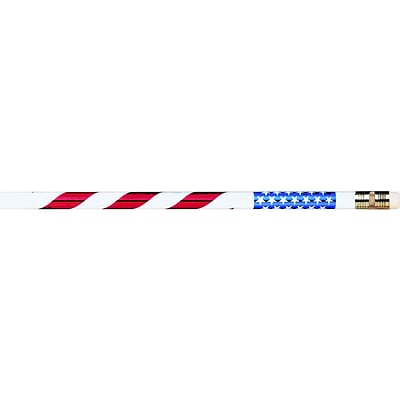 Moon Products® Stars And Stripes Pencils, Dozen