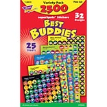 Trend® Best Buddies Collection Supershapes Sticker Variety Pack, 2500/Pack