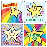Motivational Stickers, Stars: Kid-Drawn