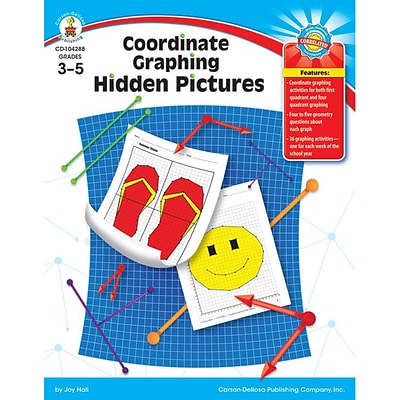 Coordinate Graphing Hidden Pictures, Grades 3-5