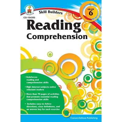 Carson-Dellosa Skill Builders, Reading Comprehension Grade 6