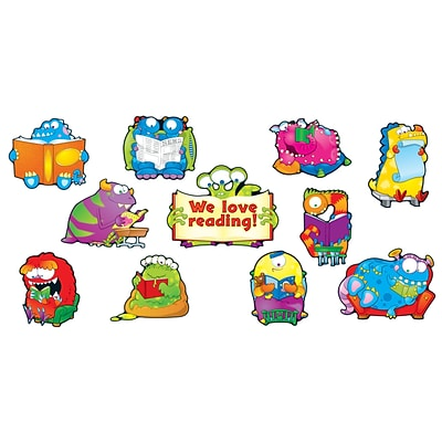 Reading Monsters Bulletin Board Set, 20 pieces