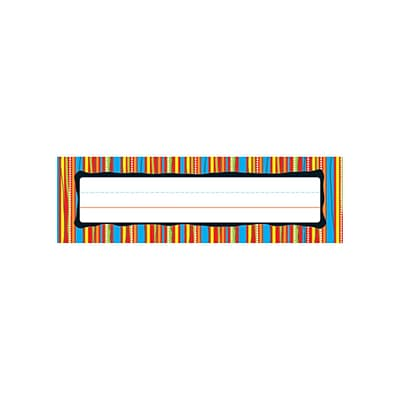 Carson-Dellosa Desk Nameplates, Colorful Stripes