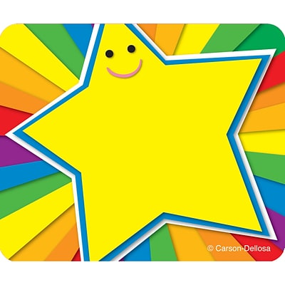 Carson-Dellosa Name Tags, Rainbow Star