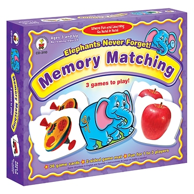 Carson-Dellosa Early Learning Games, Elephants Never Forget!