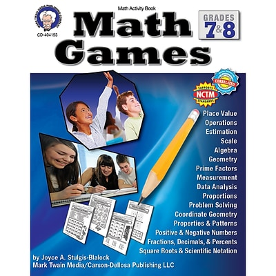 Carson-Dellosa Math Games Resource Book, Grades 7-8