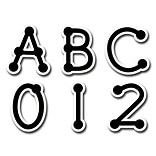 Black Dot-to-Dot Letter Stickers, Uppercase