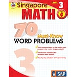 Singapore Math 70 Must-Know Word Problems Resource Book, Level 3, Grade 4