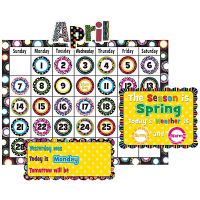 Teacher Created Resources® Fancy Circles Calendar Bulletin Board
