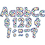 Teacher Created Resources® Colorful Paw Prints Funtastic Font 4 Ltrs Combo Pk 208 Pcs.