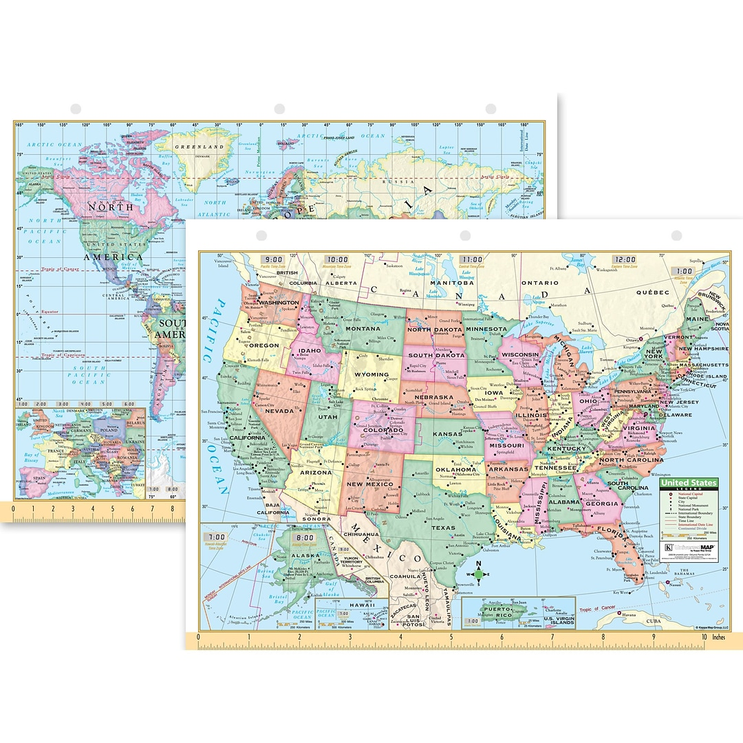 Universal Map Us World Notebook Map X Quillcom - Map of us purchases