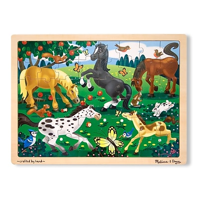 Melissa & Doug® Wooden Jigsaw Puzzles, Frolicking Horses