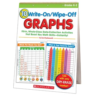 Write-On/Wipe-Off Graphs Flip Chart