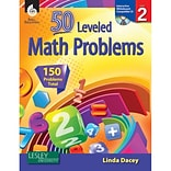 50 Leveled Math Problems w/CD, Level 2