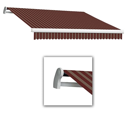 Awntech® Maui® EX Left Motor Retractable Awning, 14 x 10 2, Burgundy/Tan
