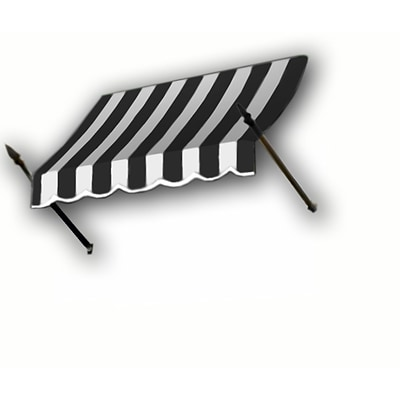 Awntech® 5 New Orleans® Window/Entry Awning, 31 x 16, Black/White