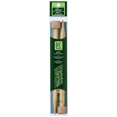Clover Takumi Bamboo Single Point Knitting Needle, 10, Size 17/12.75mm