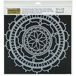 Crafters Workshop 12 x 12 Template, Rosetta