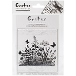 Wild Flowers & Butterflies RBR Stamp