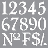 Americana® Decor™Olde WRL Numbers Stencil