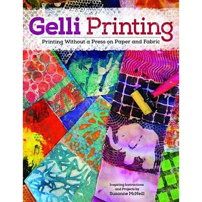 Design Originals Gelli Printing: Printing Without a Press on Paper and.. Book, 10.8 x 8.5 x 0.1