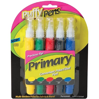 I Love To Create® Puffy Paint™ Primary Pen Set, Assorted Color
