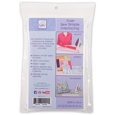 June Tailor® Sew Simple Fusible Interfacing