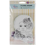 Bloom 4x6 Girl joy Rubber Cling Stamp