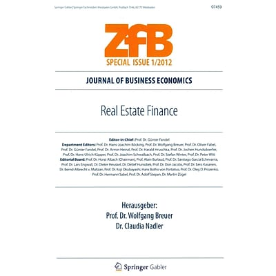 Real Estate Finance (ZfB Special Issue)
