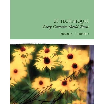 Pearson 35 Techniques Every Counselor Should Know Paperback Book, 1st Edition