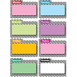 Ashley 8 1/2 x 11 File Days Of Week Magnetic Time Organizer, Black Chevron, 8/Pack