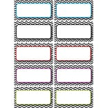 Ashley K - 12th Grade Die-Cut Magnet Name Plate, Black Chevron, 12/pack