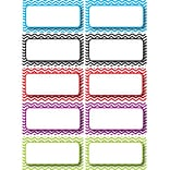 Ashley K - 12th Grade Die-Cut Magnet Name Plate, Color Chevron, 10/Pack