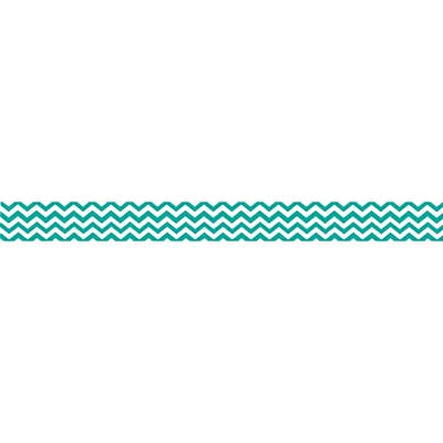 Ashley 3/4 x 12 Magnetic Magi-Strips, Turquoise Chevron, 12/Pack
