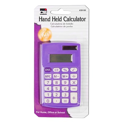 Charles Leonard CHL39100 8 Digit Display Primary Calculator