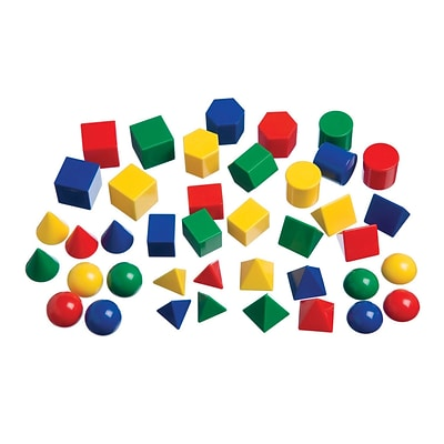 Learning Advantage™ Mini Geometric Solids, 40/Pack