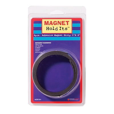 Dowling Magnets Adhesive Magnet Strip, 1 x 6 (DO-735006)