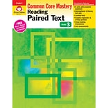Evan-Moor® Reading Paired Text: Common Core Mastery Book, Grade 3rd