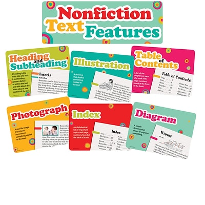 Edupress® Bulletin Board Set, Nonfiction Text Features, 15/Pack