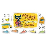 Edupress® Pete the Cat® Bulletin Board Set, Were Rocking in Our Learning Shoes, 46/Pack