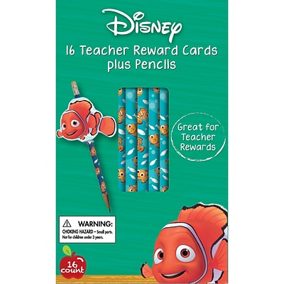 Eureka® Finding Nemo® Reward Pencil With Toppers, 16/Pack