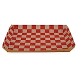 Southern Champion Tray 10 1/2 x 7 1/2 x 1 1/2 Eco Kraft Paperboard Lunch Tray, Brown/Red/White